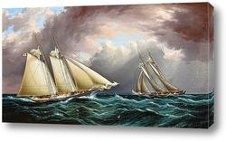 Американские парусная яхта Эмили в море