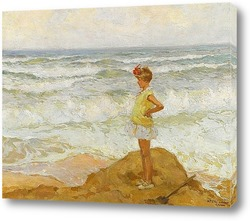 Постер Армянская девочка на море