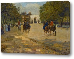 Картина Верховая езда в Гайд-парке