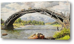 Картина Мост и горы
