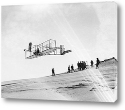 Немецкий авиаконструктор Отто Лилиенталь на планере,1896г.