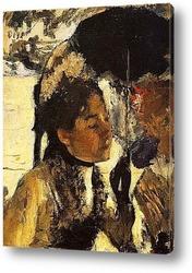 Тюильри, женщина с зонтиком (1877)