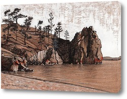 Постер Скалистый берег, о.Ольхон
