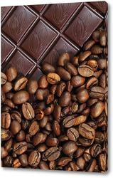 Натуральные зерна кофе под большим увеличением