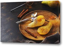 Постер Десерт с грушами