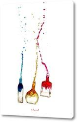 Натюрморт с вином в бокале