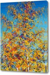 Картина Золото листьев разлетелось по небу
