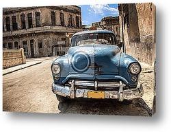 Постер Авто на Кубе