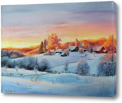 Постер Зима на восходе