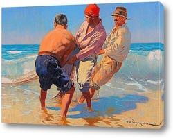 Постер Три рыбака