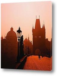 Постер Карлов мост в Праге.