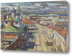 Постер Вид на церковь Святого Иоанна Крестителя от Рождественской улицы, Нижний Новгород