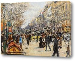 Картина Большие бульвары, Париж