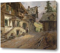 Деревенская дорога в Альпах