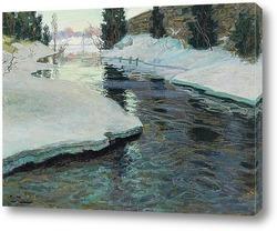 Картина Волендам поток зимой