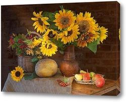 Постер Подсолнух-цветок солнца
