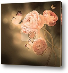 Постер Бабочки на розах