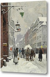 Картина Зимний день в Krystalgade