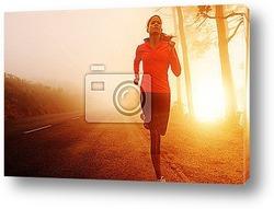 Постер Девушка на пробежке