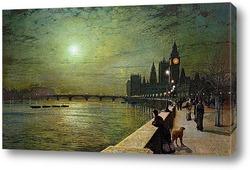 Валлийский речной пейзаж, 1888
