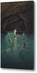 Картина Рыбак и русалки , грот на Капри