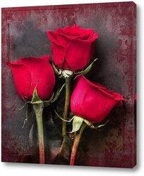 Постер Букет красных роз