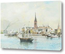 Вид на Королевский дворец, Стокгольм