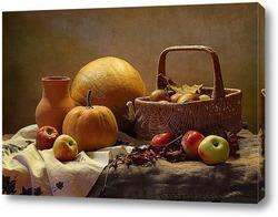 Постер Яблоки и тыквы