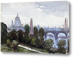 Картина Собор Святого Павала, вид из окна
