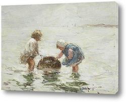 Новорожденный мальчик - рыбак