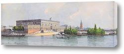 Вид на стокгольмский дворец и Национал-музей