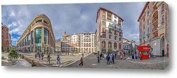 «Горки Город». Панорама ул. Горная Карусель при вечерних лучах. Красная Поляна