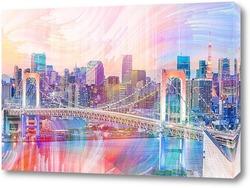 Постер Радужный мост в Токио
