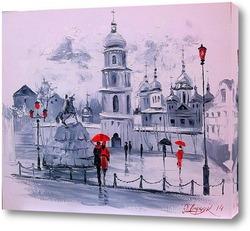 Постер Софиевская площадь в Киеве