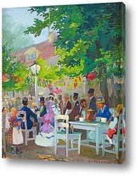 Картина Кафе в саду
