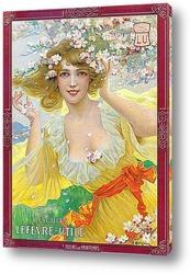 Картина Плакат печенья Лефевр-Утиле, 1907
