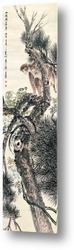 Картина Обезьяна на сосне