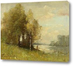 Картина Рыбак на берегу