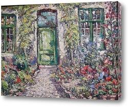 Постер Дом в цветах