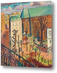 Картина Пейзаж, монастырь