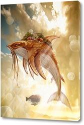 Постер Воздушное плавание