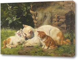 Картина Кошка с котятами
