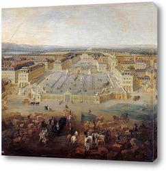 Вид на дворец и сады в Марли