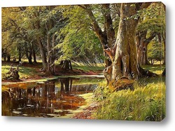 Картина Лесной пейзаж
