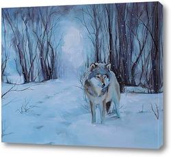 Картина Когда леса укроются снегами