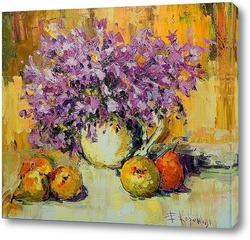 Постер Цветочно-фруктовый натюрморт