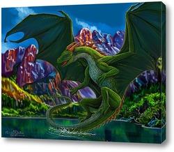 Картина Зеленый дракон