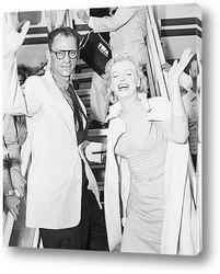 Мерелин Монро и её муж Артур Миллер,1955г.