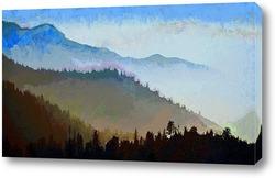 Постер Туман в горах