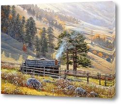 Картина Архыз, пастушеский домик